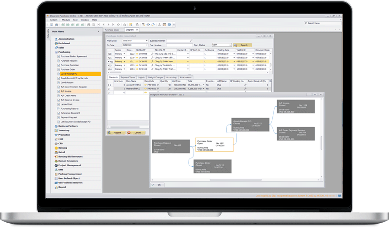 sap business one traceability